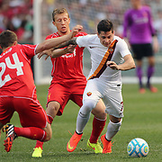 Juan Iturbe, AS Roma, in action during the Liverpool Vs AS Roma friendly pre season football match at Fenway Park, Boston. USA. 23rd July 2014. Photo Tim Clayton