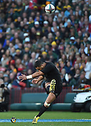 JOHANNESBURG, South Africa, 25 July 2015 : Lima Sopoaga of the All Blacks kicks at goal during the Castle Lager Rugby Championship test match between SOUTH AFRICA and NEW ZEALAND at Emirates Airline Park in Johannesburg, South Africa on 25 July 2015. Bokke 20 - 27 All Blacks<br /> <br /> © Anton de Villiers / SASPA