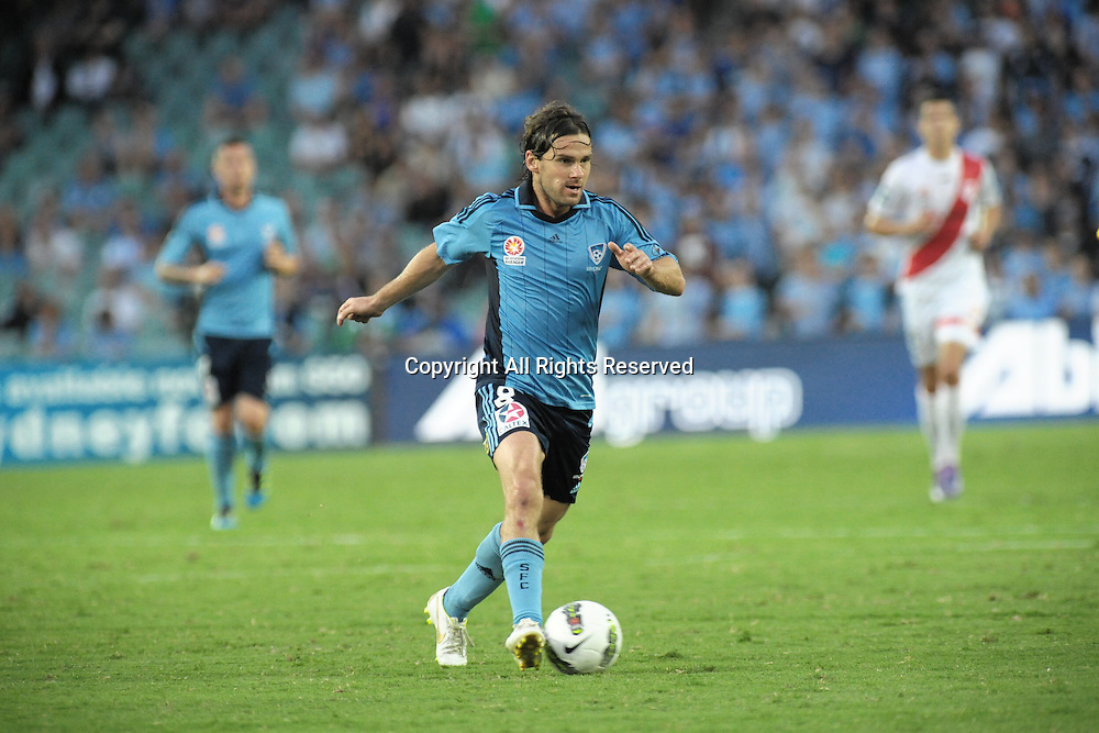 29.12.2011 Sydney, Australia.Sydney midfielder Karol Kisel in action during the A-League game between Sydney FC and Melbourne Heart played at the Sydney Football Stadium.