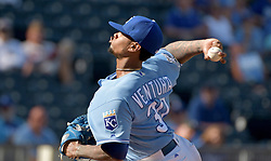 Sep 19, 2016; Kansas City, MO, USA; Kansas City Royals starting pitcher Yordano Ventura (30) delivers a pitch in the ninth inning against the Chicago White Sox at Kauffman Stadium. Ventura pitched a complete game as the Royals won 8-3.  Mandatory Credit: Denny Medley-USA TODAY Sports