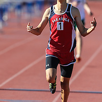 (Photograph by Bill Gerth/ for SVCN5/15/15) Saratoga Steven Sum winning the 1600 at the SCVAL track championships at Santa Clara High School, Santa Clara CA on 5/15/15.