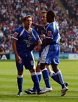 Photo: Olly Greenwood.<br />Crystal Palace v Cardiff City. Coca Cola Championship. 14/10/2006. Cardiff's Michael Chopra celebrates scoring