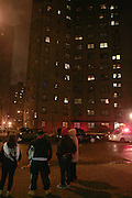 13 March 2010- New York, NY- A Hispanic Male fell from the roof of the Baruch Houses located at Columbia and Delancy Street on the Lower East Side of Manhattan in the evening of March 13, 2010. An exact cause of death has not been determined by NYPD as of this time. Photo Credit: Terrence Jennings