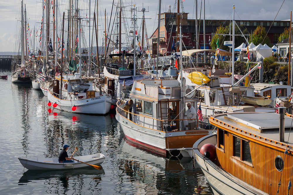 United States, Washington, Port Townsend, Annual Wooden Boat Festival, held in September