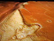 Kasei Valles on the surface of the planet Mars