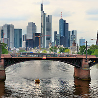 Skyline of Downtown Frankfurt, Germany <br />