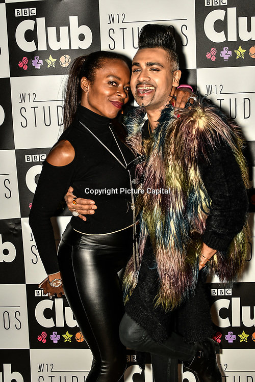 Tina T and Jay Kamiraz - Mr Fabulous attend BBC Club at W12 Studios Lunch party on 14 March 2019, London, UK.