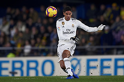 January 3, 2019 - Villarreal, Castellon, Spain - Raphael Varane of Real Madrid does passed during the week 17 of La Liga match between Villarreal CF and Real Madrid at Ceramica Stadium in Villarreal, Spain on January 3 2019. (Credit Image: © Jose Breton/NurPhoto via ZUMA Press)