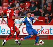 Leyton Orient midfielder Dean Cox plays a through pass during the Sky Bet League 2 match between Crawley Town and Leyton Orient at the Checkatrade.com Stadium, Crawley, England on 10 October 2015. Photo by Bennett Dean.