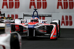 April 28, 2018 - Paris, Ile-de-France, France - Sweden's Felix Rosenqvist of the Formula E team Mahindra competes during the French stage of the Formula E championship around The Invalides Monument close to The Eiffel Tower in Paris on April 28, 2018. (Credit Image: © Michel Stoupak/NurPhoto via ZUMA Press)