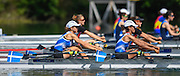 Lucerne, SWITZERLAND<br /> <br /> GRE LW2X. Bow Anastasia VONTZOU and Georgeia DIMAKOU. 2016 European Olympic Qualifying Regatta, Lake Rotsee.<br /> <br /> Sunday  22/05/2016<br /> <br /> [Mandatory Credit; Peter SPURRIER/Intersport-images]