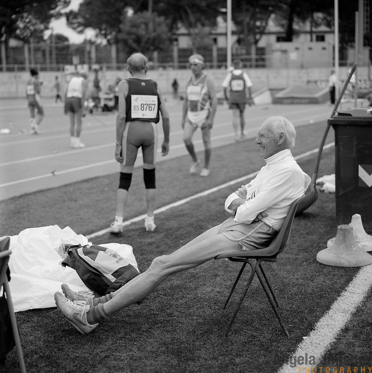 e28bd039fca5 86-year-old senior athlete Axel Magnusson of Sweden, is photographed while  competing.