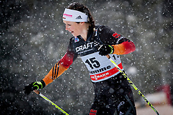 Katrine Zeller of Germany during women 9 km pursue race at the cross country Tour de Ski 2014 of the FIS cross country World cup competition on January 5th, 2014 in Alpe Cermis, Val di Fiemme, Italy. (Photo by Urban Urbanc / Sportida)