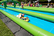 Goshen, New York - The Village of Goshen closed off five blocks of North Church Street for the village's first-ever Slide the City event on Aug. 5, 2017.