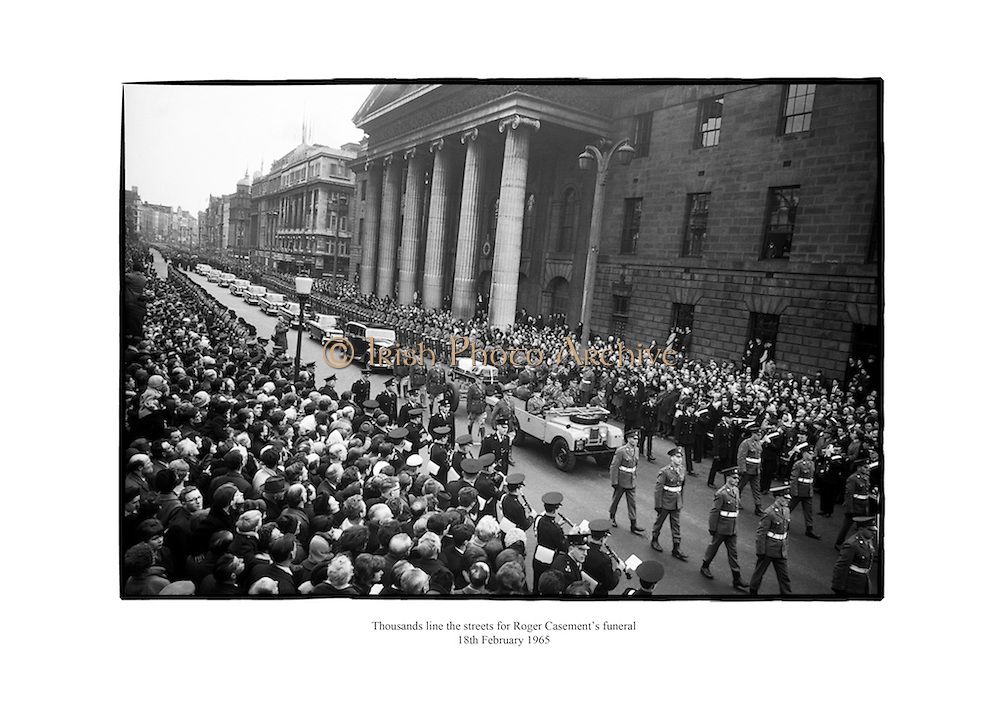 Thousands line the streets for Roger Casement's funeral.<br />