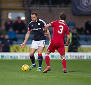 Dundee&rsquo;s Tom Hateley and Aberdeen&rsquo;s Graeme Shinnie  - Dundee v Aberdeen in the Ladbrokes Scottish Premiership at Dens Park, Dundee. Photo: David Young<br /> <br />  - &copy; David Young - www.davidyoungphoto.co.uk - email: davidyoungphoto@gmail.com