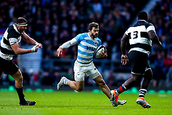 Ramiro Moyano of Argentina takes on Trevor Nyakane of Barbarians - Mandatory by-line: Robbie Stephenson/JMP - 01/12/2018 - RUGBY - Twickenham Stadium - London, England - Barbarians v Argentina - Killick Cup