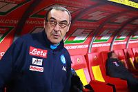 Maurizio Sarri Napoli<br /> Benevento 04-02-2018  Stadio Ciro Vigorito<br /> Football Campionato Serie A 2017/2018. <br /> Benevento - Napoli<br /> Foto Cesare Purini / Insidefoto