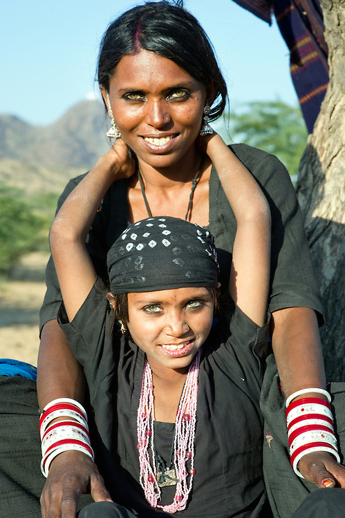 Mother and daughter from the Bhopa community in Rajasthan, India.