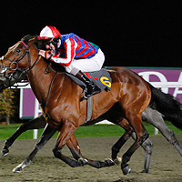 Solar Deity and Adam Kirby winning the 6.10 race