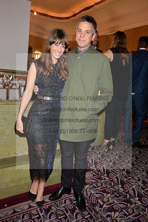 LAURA JACKSON and JOHN CORRIGAN at the WGSN Global Fashion Awards 2015 held at The Park Lane Hotel, Piccadilly, London on 14th May 2015.