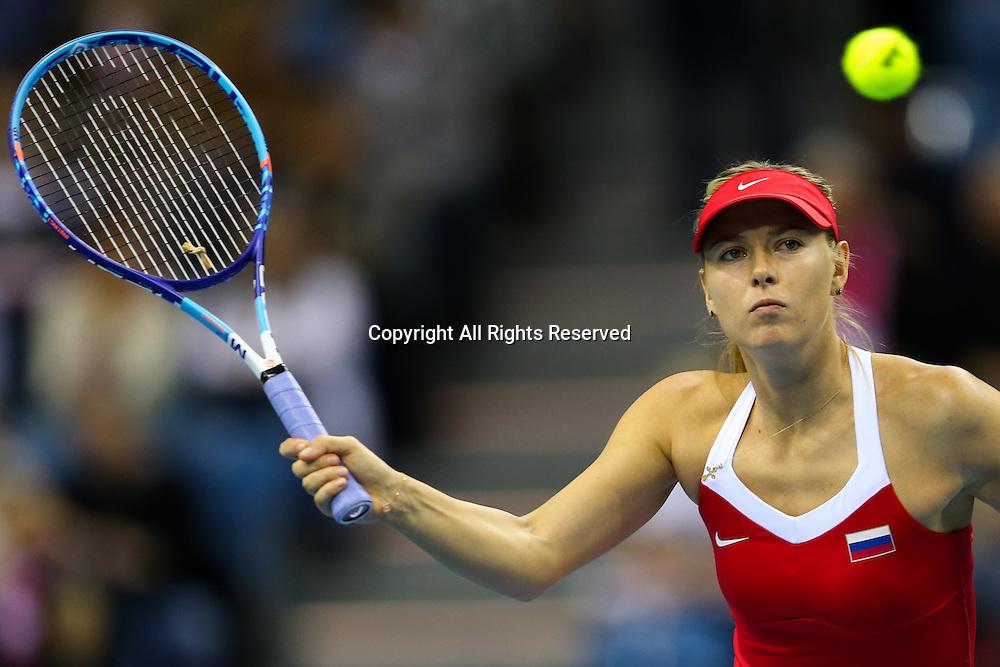 08.02.2015. Krakow, Poland, Fed Cip international tennis tournement, Poland versus Russia.  Maria Sharapova (RUS)