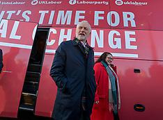 Labour leader Jeremy Corbyn campaigns in Scotland, Newtongrange 14 November 2019