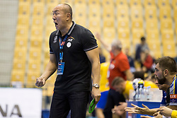 Talant Dujshebaev, head coach of Kielce during handball match between RK Celje Pivovarna Lasko and PGE Vive Kielce in Group Phase A+B of VELUX EHF Champions League, on September 30, 2017 in Arena Zlatorog, Celje, Slovenia. Photo by Urban Urbanc / Sportida