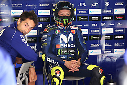 May 23, 2018 - Barcelona, Spain - Valentino Rossi (Yamaha) during the Moto GP test in the Barcelona Catalunya Circuit, on 23th May 2018 in Barcelona, Spain. (Credit Image: © Joan Valls/NurPhoto via ZUMA Press)