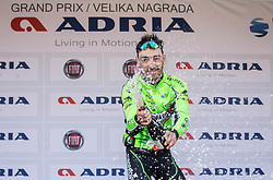 PARRINELLOAntonio (ITA) of GM Europa Ovini Team celebrates during trophy ceremony after International cycling race 3rd Adria Mobil Grand Prix, on April 2, 2017 in Novo mesto and neighbourhood, Slovenia. Photo by Vid Ponikvar / Sportida