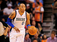 Mar. 08, 2012; Phoenix, AZ, USA;  Dallas Mavericks forward Shawn Marion (0) reacts while on the court during a game against the Phoenix Suns at the US Airways Center.  The Suns defeated the Mavericks 96-94. Mandatory Credit: Jennifer Stewart-US PRESSWIRE.