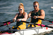 MACLEAN John and ROSS Kathryn of Australia in The SY Rowing - Canoeing Park competeing in the Mixed double sculls - TA Repechage 1 at the Paralympic games, Beijing, China. 10th September 2008