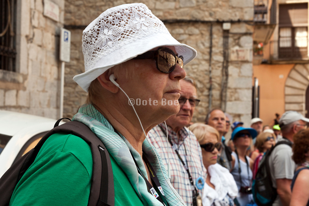 mass tourism group in Girona Spain