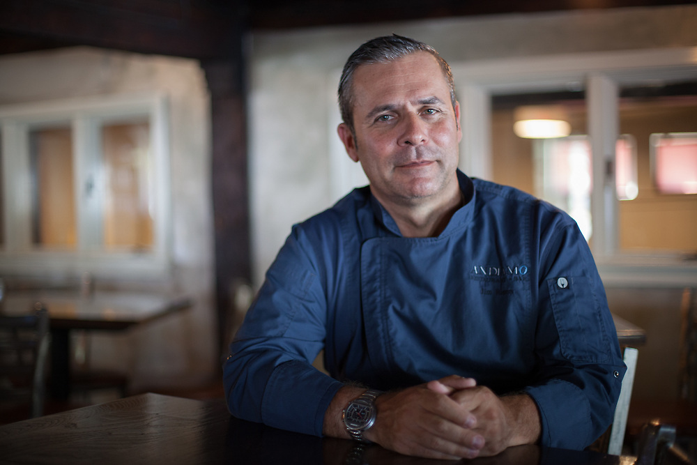Chef Jim Rogers of Andiamo Restaurant in Newburyport, Massachusetts. A portrait for an article in North Shore Magazine
