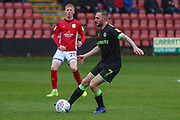 Forest Green Rovers Carl Winchester(7) on the ball during the EFL Sky Bet League 2 match between Crewe Alexandra and Forest Green Rovers at Alexandra Stadium, Crewe, England on 27 April 2019.
