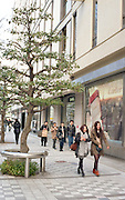 People in front of a department store on the official 2,672nd anniversary of Japan.