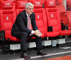 Stoke City manager Mark Hughes before the match - Mandatory by-line: Jack Phillips/JMP - 24/09/2016 - FOOTBALL - Bet365 Stadium - Stoke-on-Trent, England - Stoke City v West Bromwich Albion - Premier League