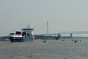 Container feeder on Nord-Ostsee-Kanal.