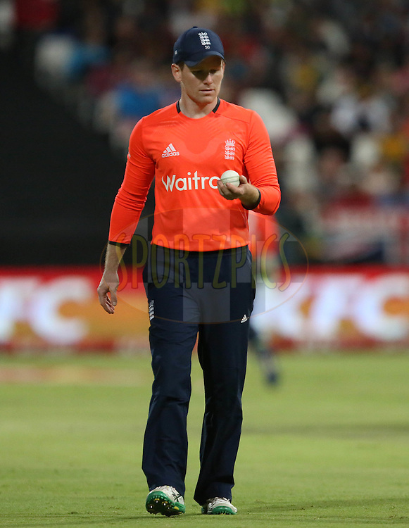 Eoin Morgan during the First KFC T20 Match between South Africa and England played at Newlands Stadium, Cape Town, South Africa on February 19th 2016