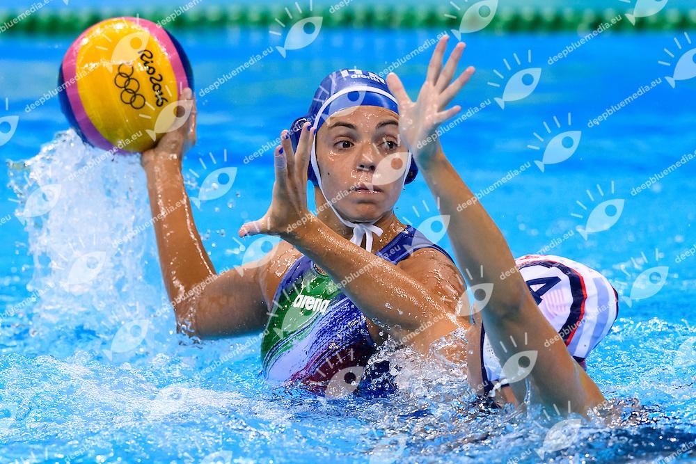 GARIBOTTI Arianna ITALIA <br /> Rio de Janeiro 19-08-2016 Olympic Aquatics Stadium  - Water Polo <br /> USA - ITALY Final <br />  Foto Andrea Staccioli/Deepbluemedia/Insidefoto