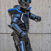 Cosplay attendee in their costume, as  Akame ge Kill is a Japanese shōnen manga Amime series.<br />