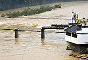 SHANGRAO, CHINA - JUNE 25: <br /> <br /> Torrential Rain Hits Jiangxi in china<br /> <br /> The bridge has been damaged by the flood caused by heavy rain in Wuyuan County on June 25, 2017 in Shangrao, Jiangxi Province of China. Torrential rain since last Thursday has affected people's life in many parts of south China. 93 people are still missing by Monday morning after a landslide in Sichuan. At least 22 are people dead and 6 are missing in Jiangxi, Guizhou, Hunan, Yunnan and Anhui, according to Xinhua Agency.<br /> ©Exclusivepix Media
