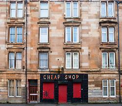 View of  tenement apartment block in Govanhill district of Glasgow, Scotland, United Kingdom