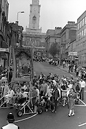 Shafton Workshops banner, 1983 Yorkshire Miner's Gala. Barnsley