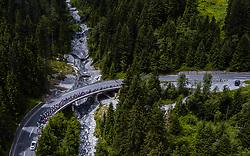 11.07.2019, Kitzbühel, AUT, Ö-Tour, Österreich Radrundfahrt, 5. Etappe, von Radstadt nach Fuscher Törl (103,5 km), im Bild Peloton in den Bergen // Peloton in den Bergen during 5th stage from Bruck an der Glocknerstraße to Kitzbühel (161,9 km) of the 2019 Tour of Austria. Kitzbühel, Austria on 2019/07/11. EXPA Pictures © 2019, PhotoCredit: EXPA/ JFK