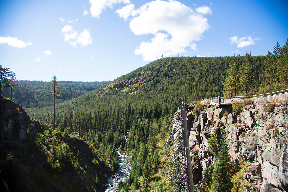 Tumalo Falls near Bend, Oregon.