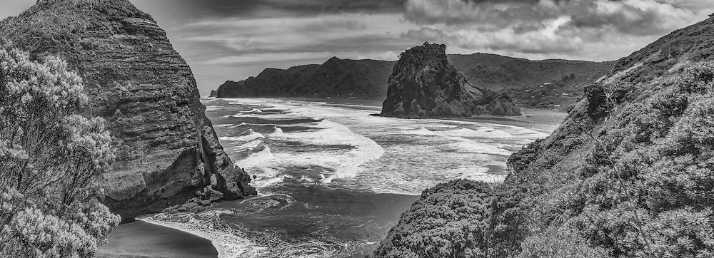 fine art piha black and white landscape image, available as print