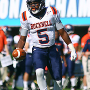 Bucknell wide receiver Victor Walker (5) in action during a Week 3 NCAA football game against Delaware...#13 Delaware defeated The Bison of Bucknell 19 - 3 at Delaware Stadium Saturday Sept. 15, 2012 in Newark Delaware.
