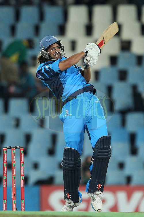 David Wiese of the Titans during the 2nd semi final of the Karbonn Smart CLT20 South Africa between The Sydney SIxers and the The Titans held at Supersport Park in Centurion, Gauteng on the 26th October 2012..Photo by Ron Gaunt/SPORTZPICS/CLT20.