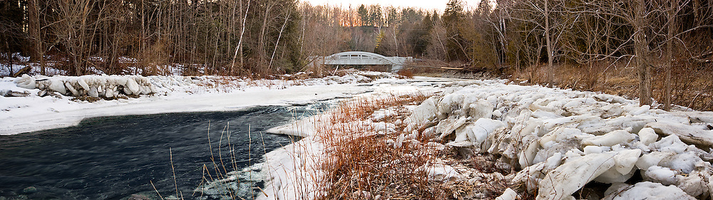 3 shot stitched panorama of Little Rouge Creek, located in the Rouge Park, Toronto, Ontario..7680x2160 original size